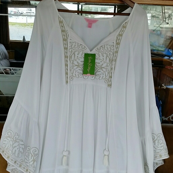 ffb4343fd29 Lilly Pulitzer Dresses | Amisa Tunic Resort White Large Nwt | Poshmark